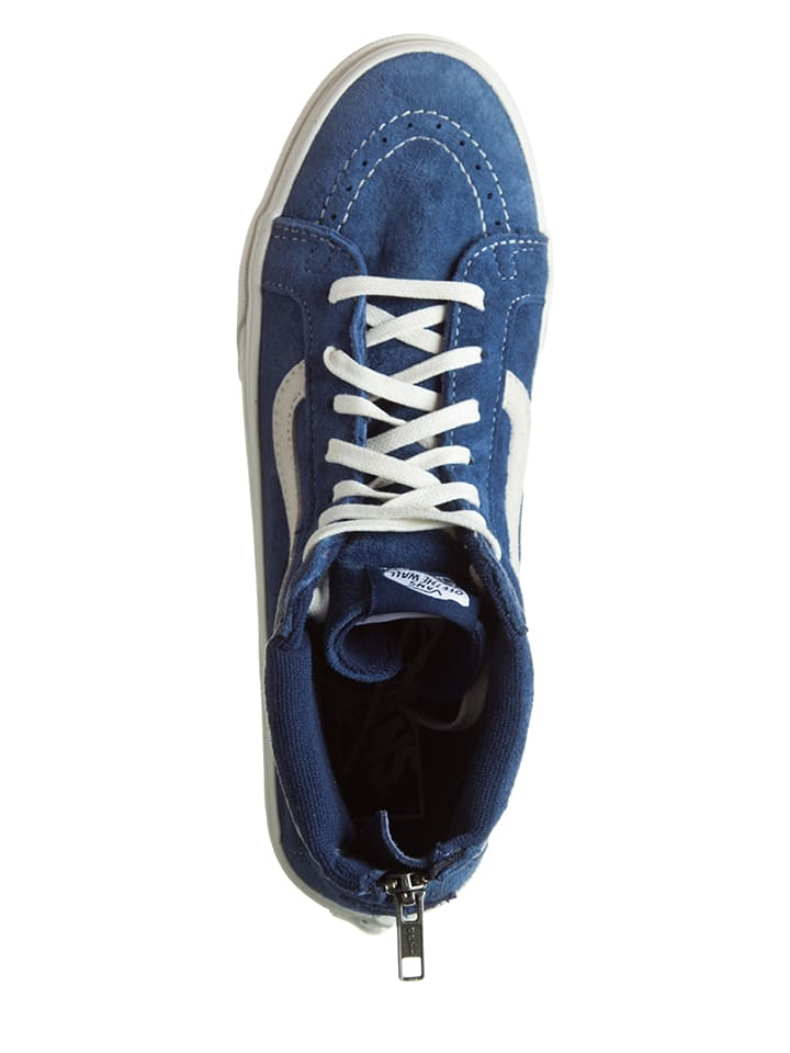 """Vans Leder-Sneakers """"Sk8-Hi"""" in Blau"""