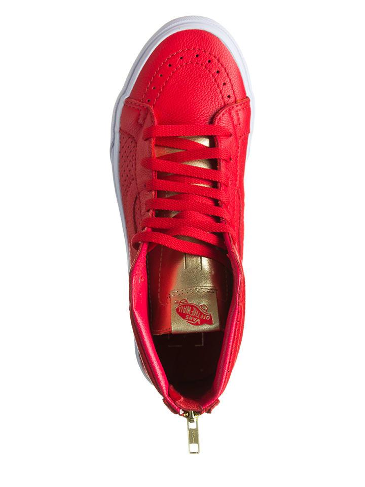 """Vans Leder-Sneakers """"Sk8-Hi"""" in Rot"""