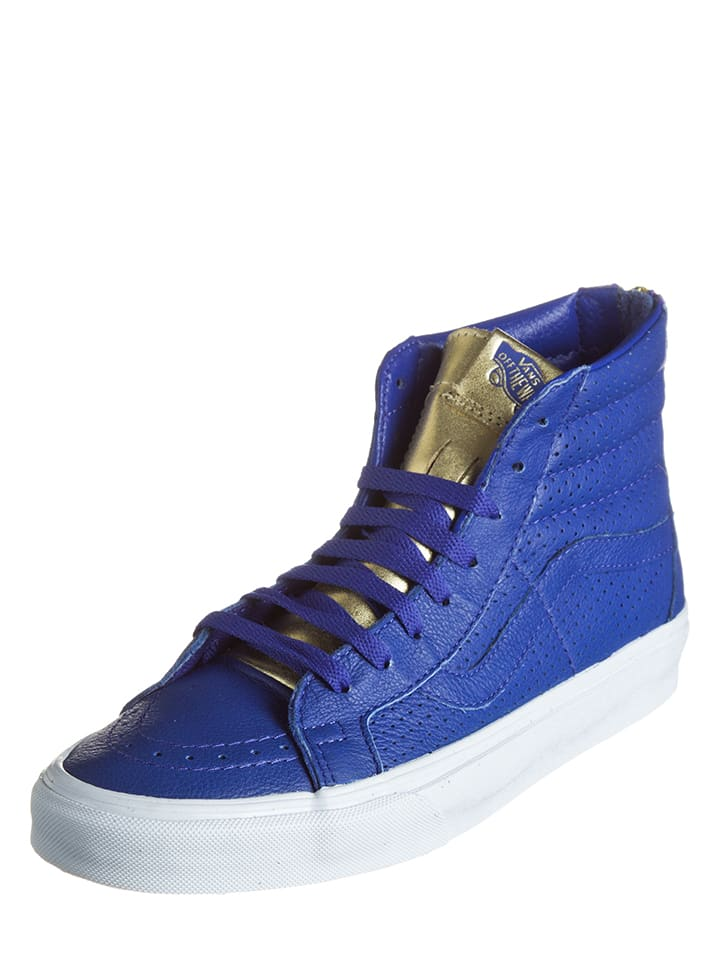 vans sk8 hi leather blue
