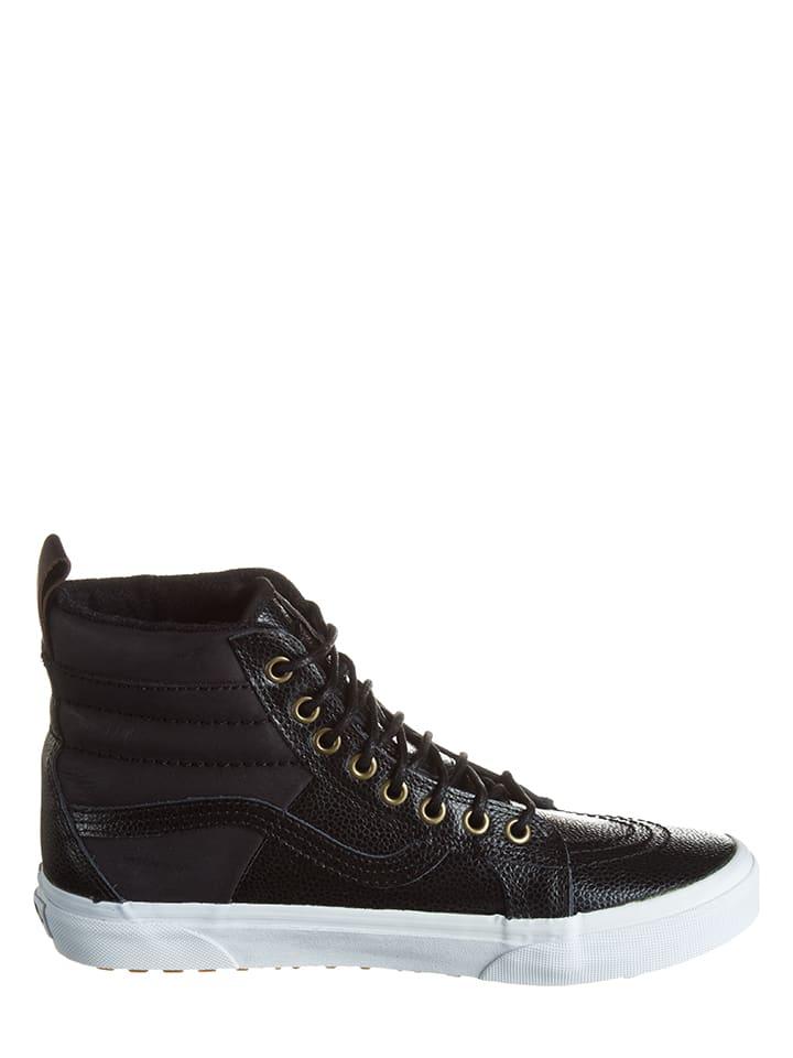 "Vans Leder-Sneakers ""Sk8-Hi"" in Schwarz"