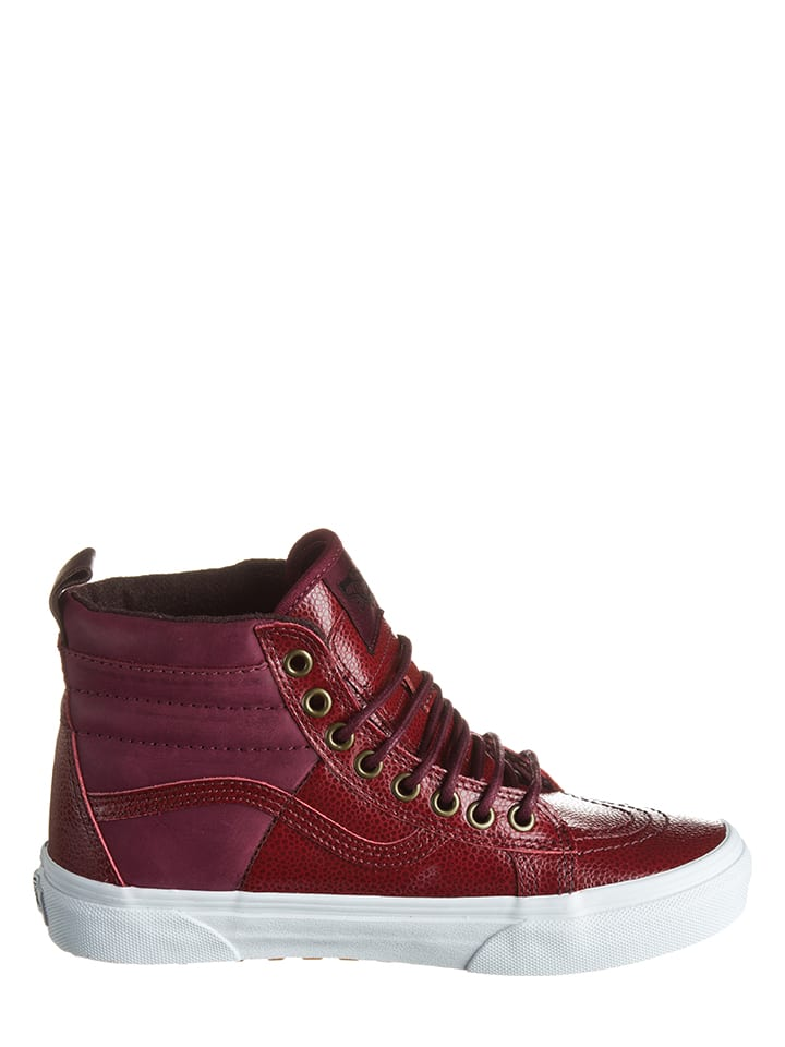 "Vans Leder-Sneakers ""Sk8-Hi"" in Bordeaux"