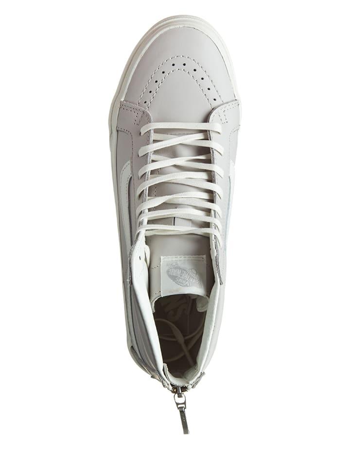 """Vans Leder-Sneakers """"Sk8-Hi"""" in Hellgrau"""