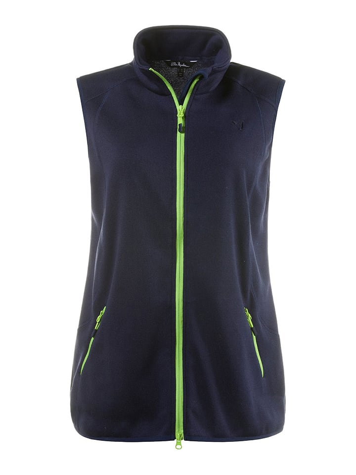 Ulla Popken Fleece-Weste in Dunkelblau