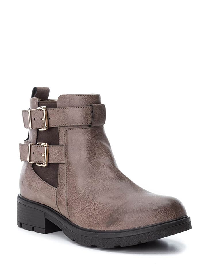 Xti Ankle-Boots in Taupe