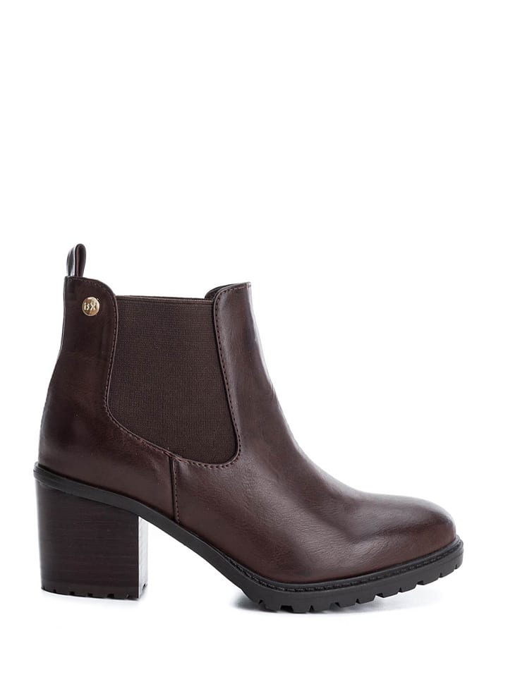 Xti Chelsea-Boots in Braun