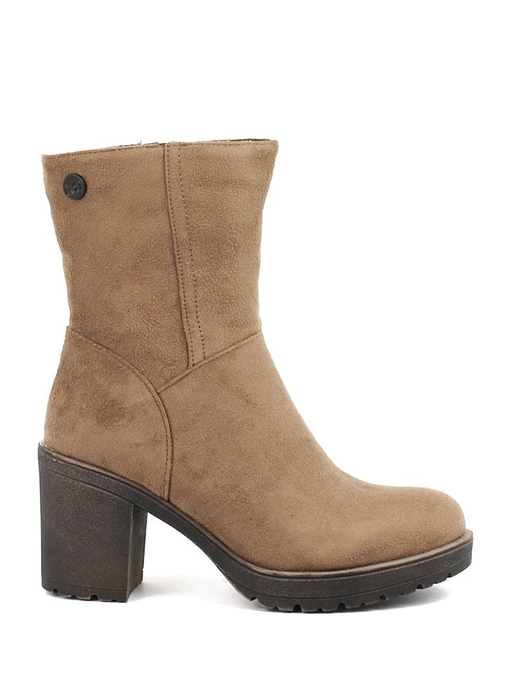 Xti Stiefeletten in Taupe
