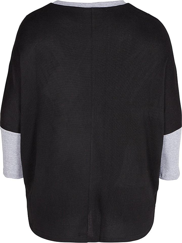 """Zizzi Shirt """"Taylor"""" in Schwarz/ Grau"""