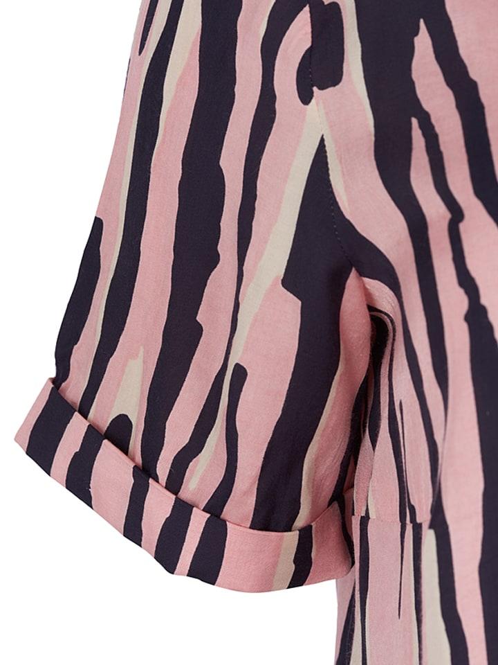 """Zizzi Shirt """"Afia"""" in Rosa/ Schwarz"""