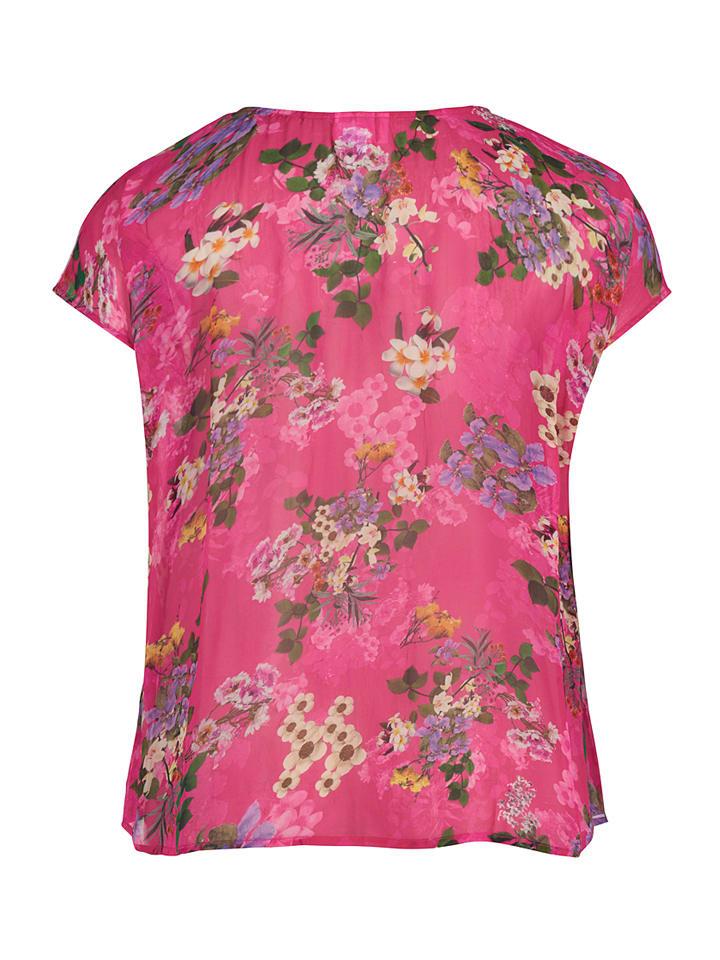 "Zizzi Shirt ""Alma"" in Pink/ Bunt"