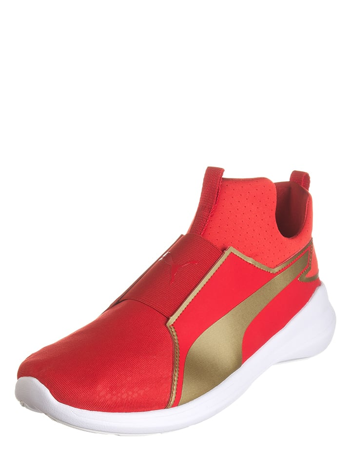 "Puma Sneakers ""Rebel Mid Summer"" in Rot/ Gold"