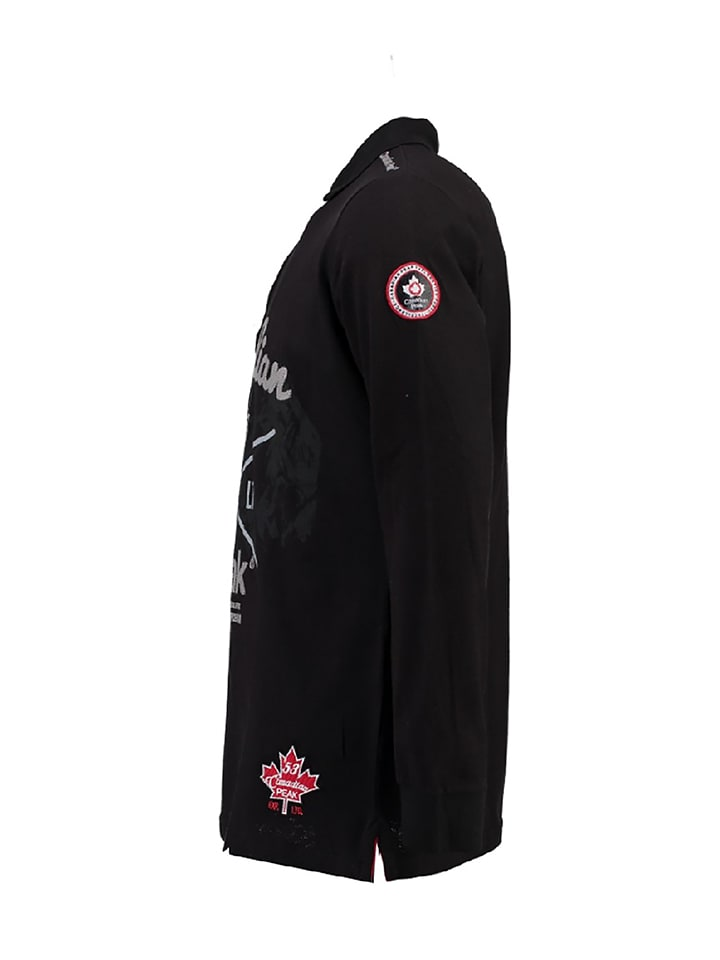 """Canadian Peak Poloshirt """"Karaka"""" in Schwarz"""