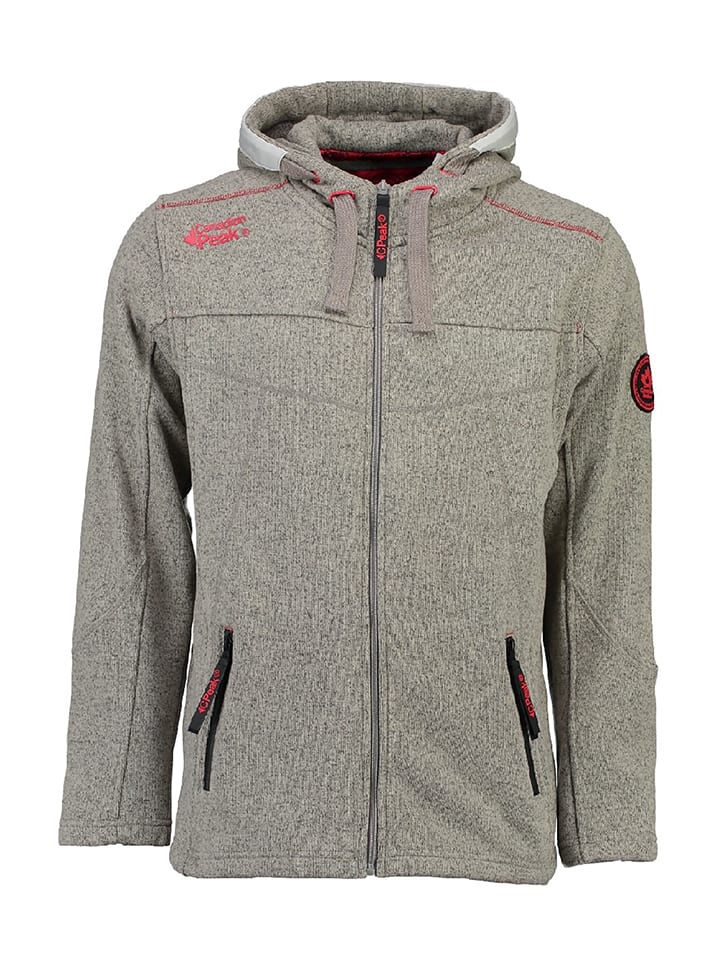 "Canadian Peak Fleecejacke ""Tajine"" in Grau"
