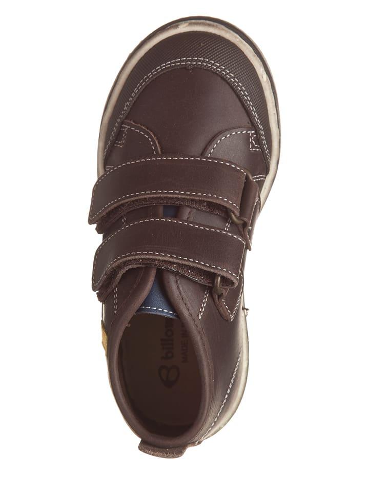 Billowy Leder-Sneakers in Braun
