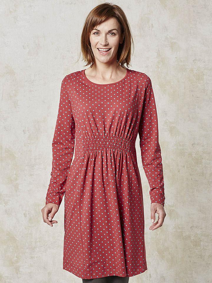 """Deerberg Kleid """"Helvi"""" in Rot"""
