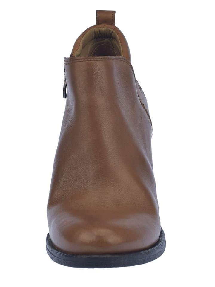U.S. Polo Leder-Stiefeletten Virgy in Braun
