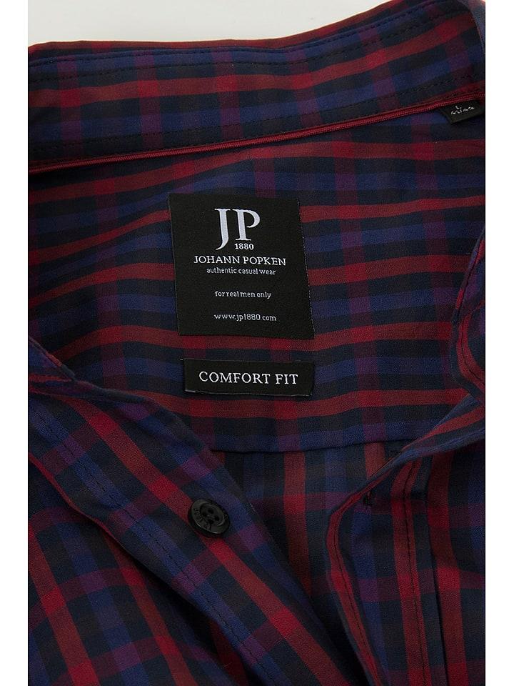 JP1880 Hemd in Bordeaux/ Dunkelblau