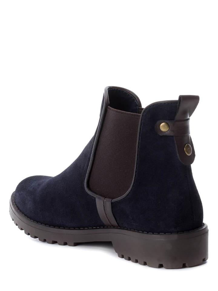 CARMELA Leder-Chelsea-Boots in Dunkelbraun - 54% RbUALEx3