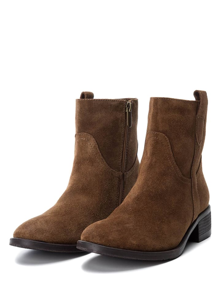 CARMELA Leder-Boots in Camel