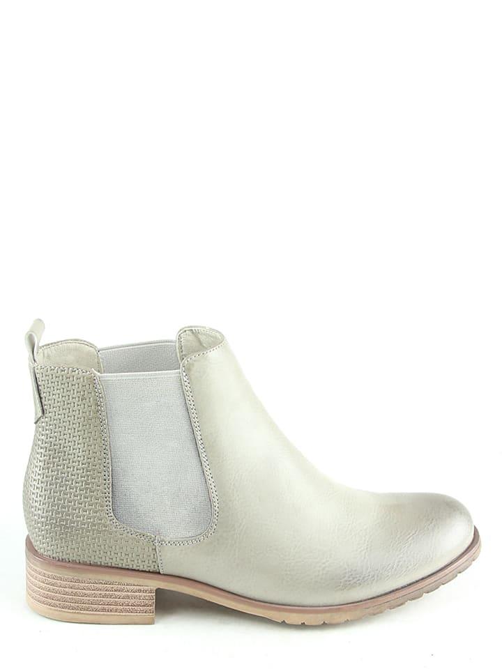 Sixth Sens Chelsea-Boots in Grau