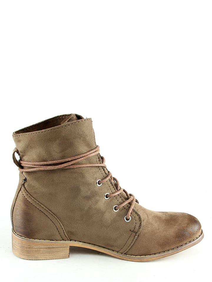 Sixth Sens Stiefeletten in Taupe