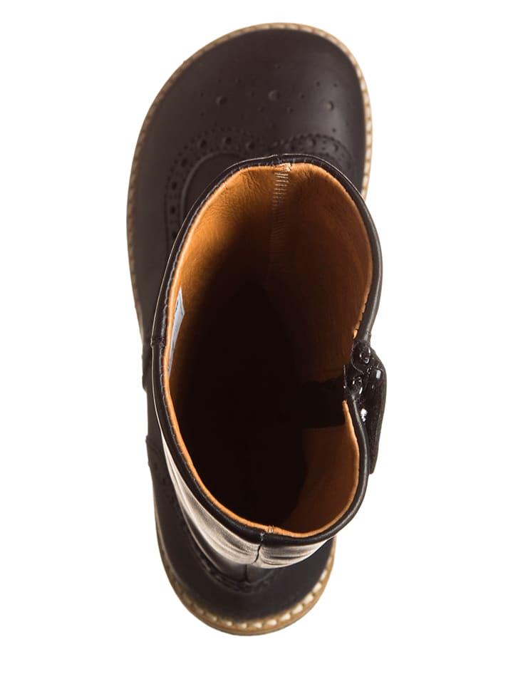 Bundgaard Leder-Stiefel in Schwarz