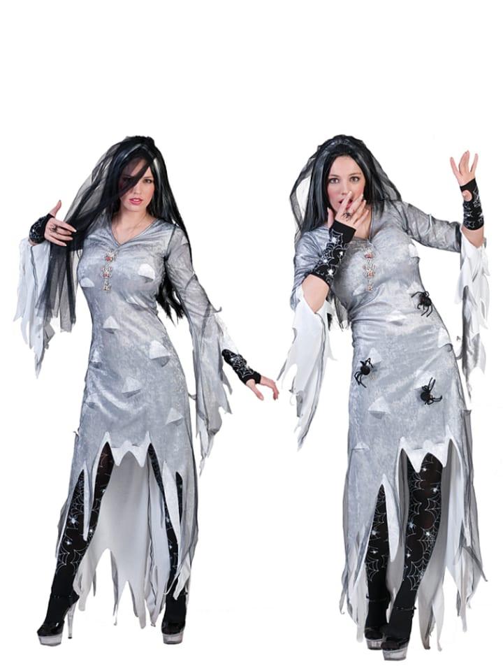 "Funny Fashion Kostümkleid ""Zombie Bride"" in Grau"