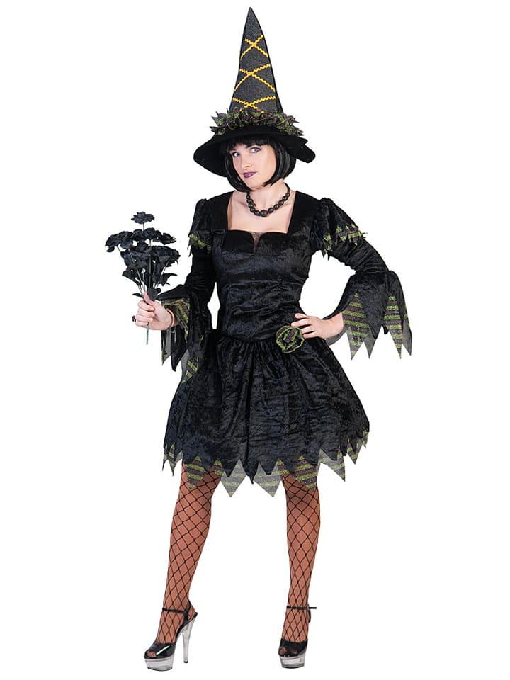 "Funny Fashion 2tlg. Kostüm ""Dark Lady"" in Schwarz"