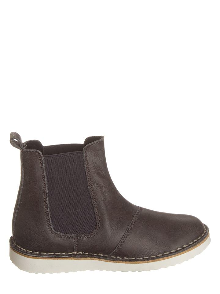 Kmins Leder-Chelsea-Boots in Dunkelgrau