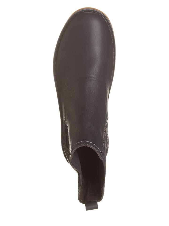 Kmins Leder-Chelsea-Boots in Grau