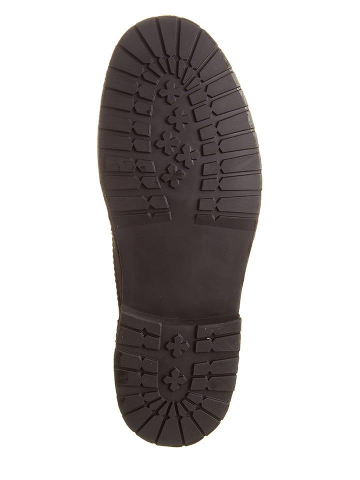 Kmins Leder-Schnürschuhe in Schwarz