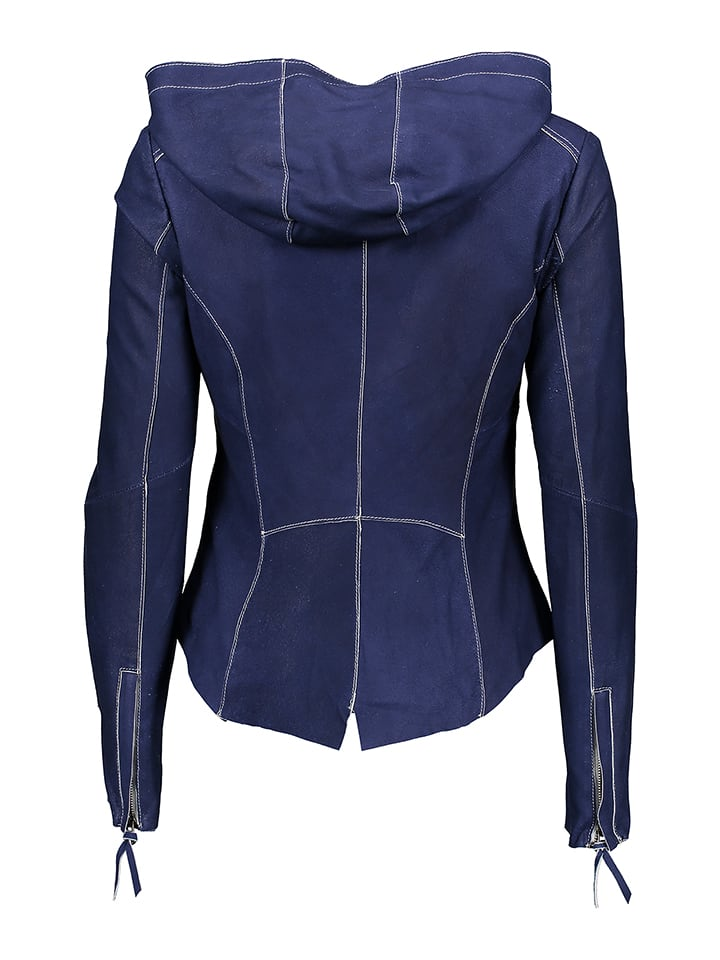 "FREAKY NATION Lederjacke ""Jumper"" in Blau"