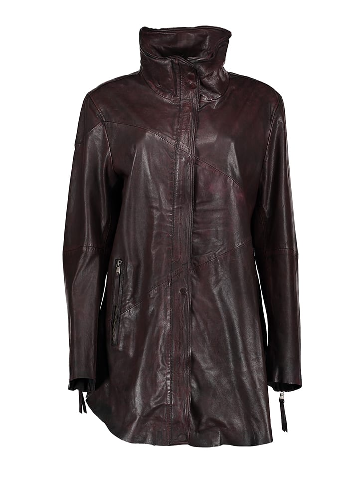 "FREAKY NATION Lederjacke ""Summer Wine"" in Bordeaux"