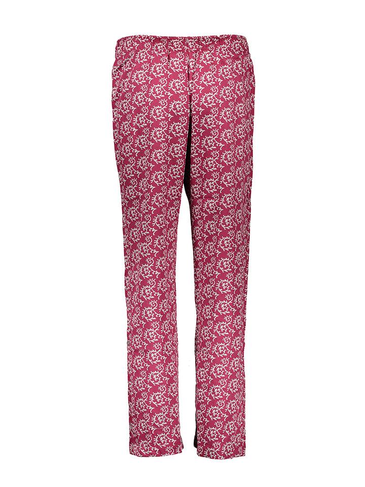 Carl Ross Pyjama-Hose in Dunkelrot/ Grau