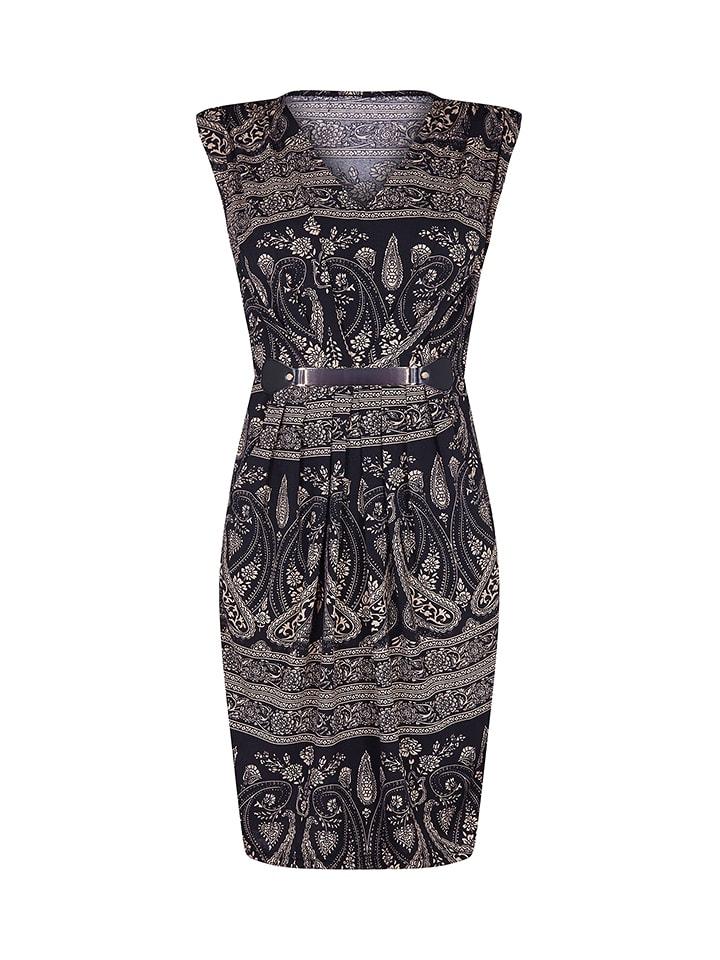 Iska Kleid in Schwarz/ Beige