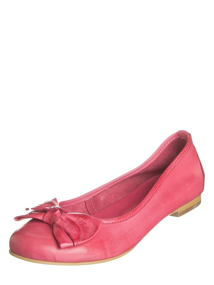 Andrea Conti Leder-Ballerinas in Rosa