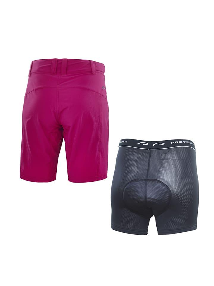 Protective 2tlg. Set: Fahrradshorts & -Panty in Pink/ Anthrazit
