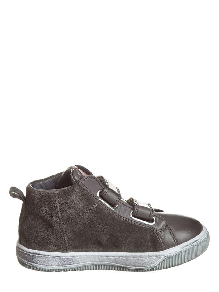 Naturino Leder-Sneakers in Anthrazit