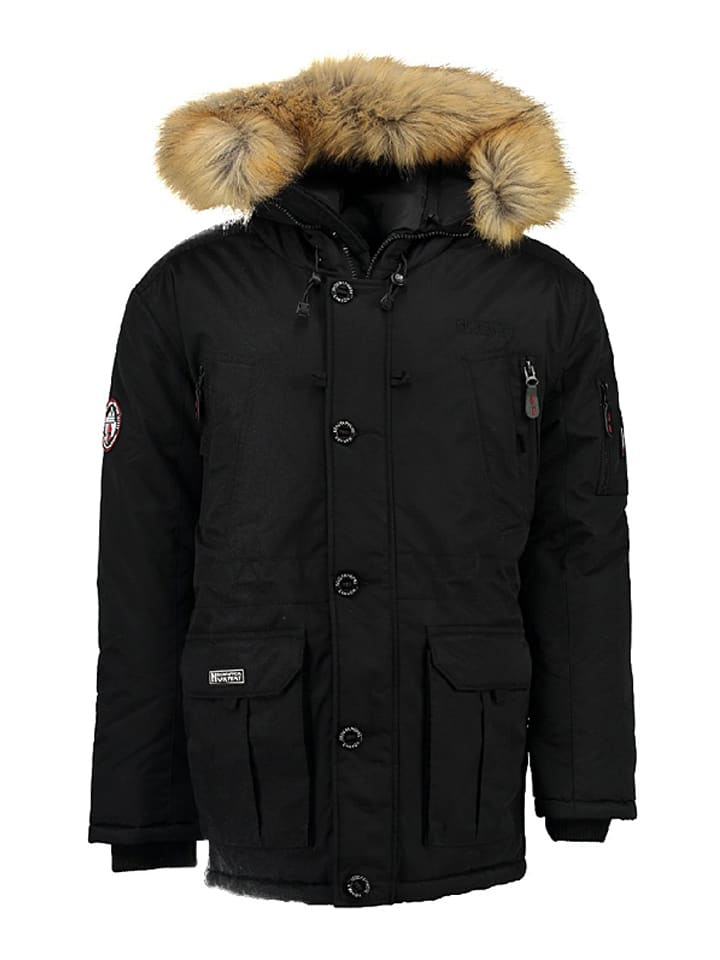 "Geographical Norway Winterjacke ""Booster"" in Schwarz"
