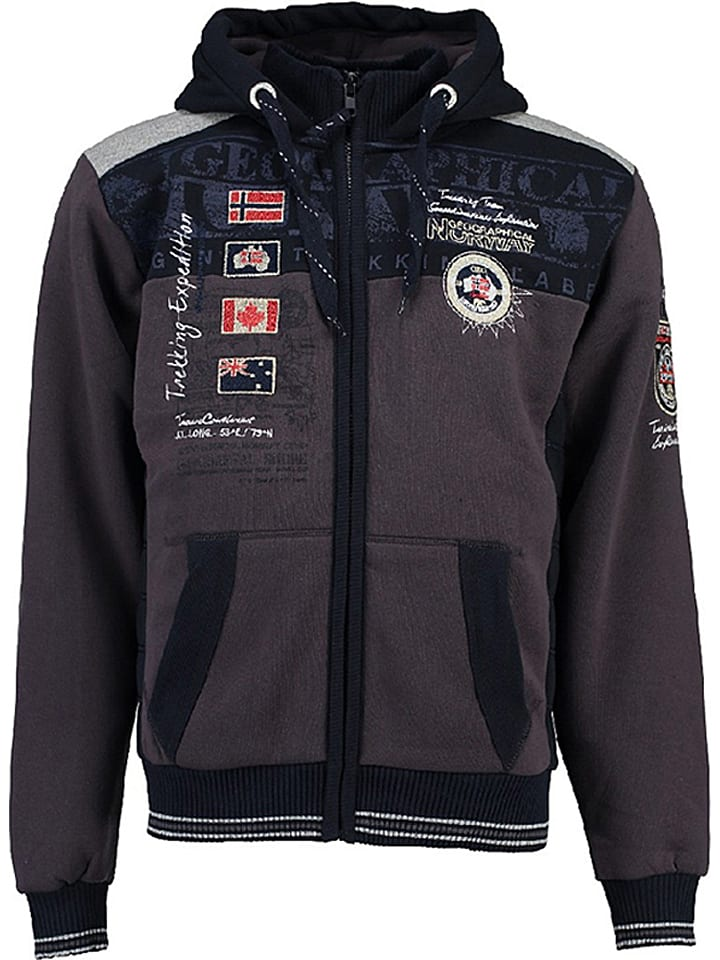 "Geographical Norway Sweatjacke ""Geday"" in Anthrazit"