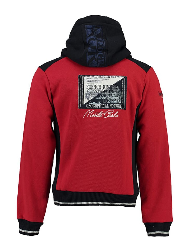 """Geographical Norway Sweatjacke """"Gindwiller"""" in Rot"""