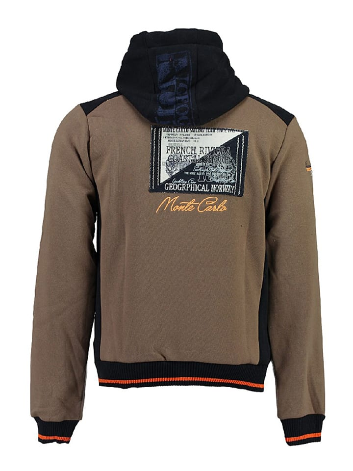 """Geographical Norway Sweatjacke """"Gindwiller"""" in Taupe"""