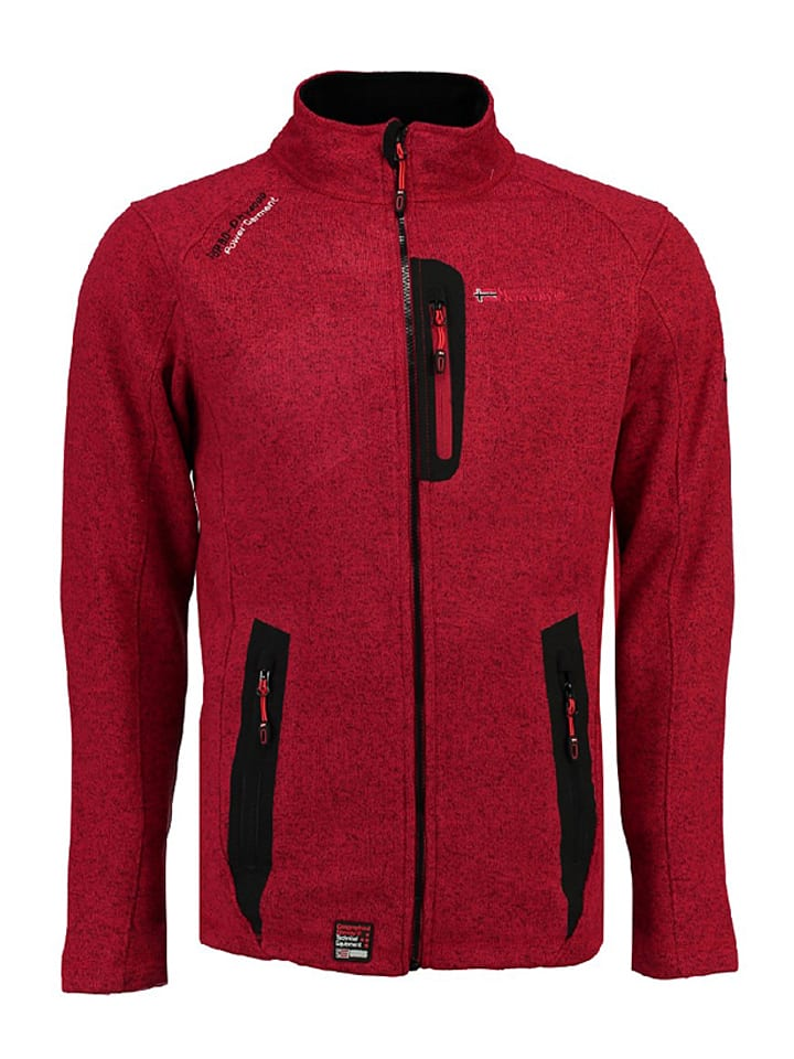 """Geographical Norway Fleecejacke """"Tazzer"""" in Rot"""