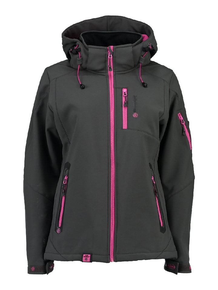 """Geographical Norway Softshelljacke """"Tempete"""" in Anthrazit"""