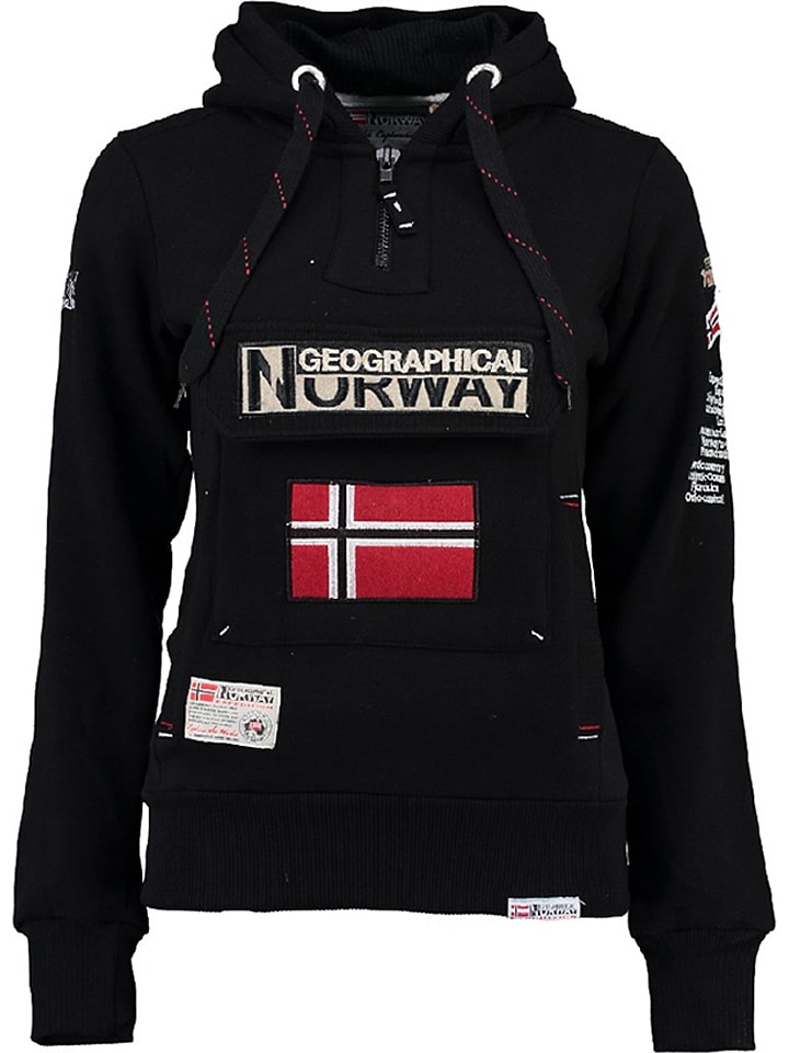 "Geographical Norway Sweatshirt ""Gymclass"" in Schwarz"