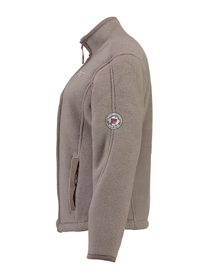 "Geographical Norway Fleecejacke ""Tapir"" in Taupe"