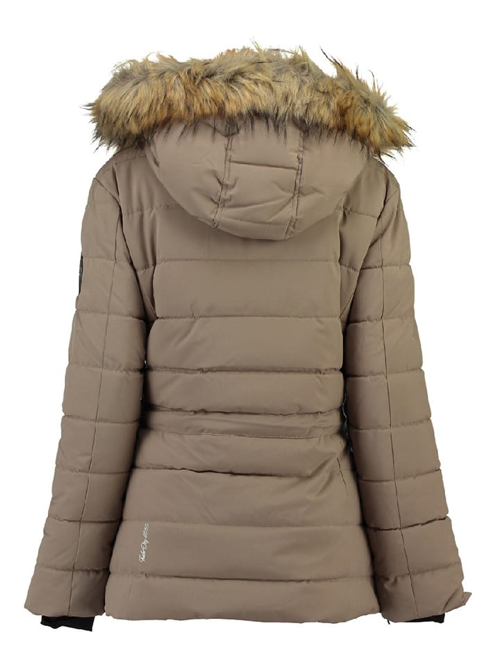 """Geographical Norway Parka """"Bevakasha"""" in Taupe"""