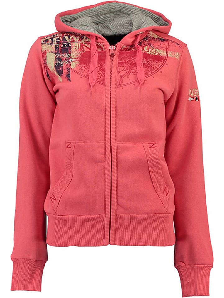 "Geographical Norway Sweatjacke ""Gasmine"" in Koralle"