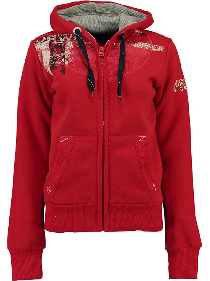 "Geographical Norway Sweatjacke ""Gasmine"" in Rot"