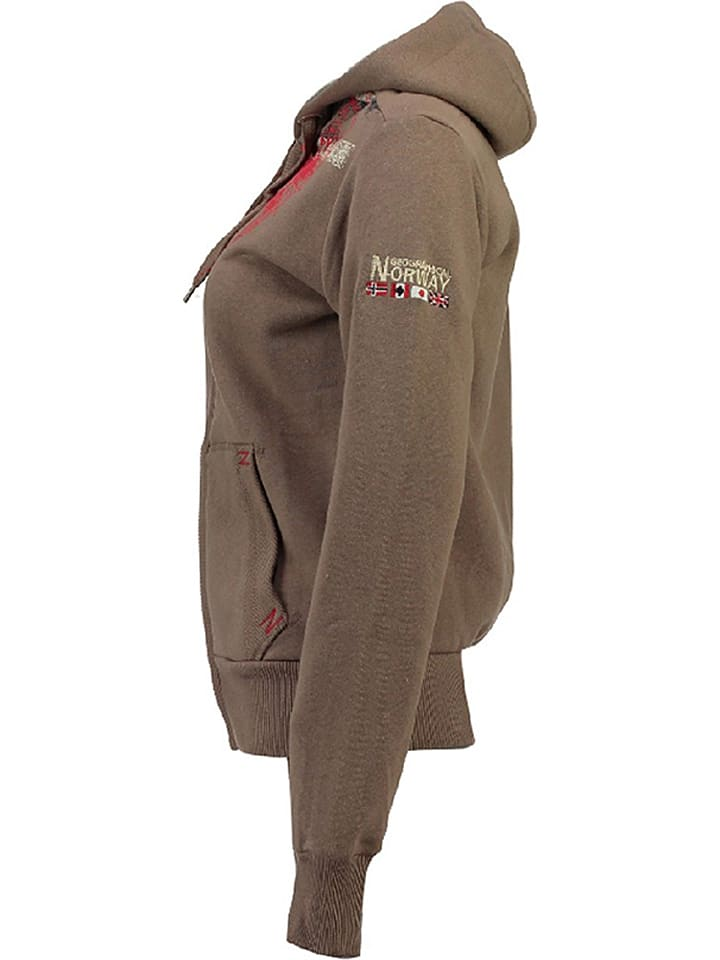 """Geographical Norway Sweatjacke """"Gasmine"""" in Taupe"""
