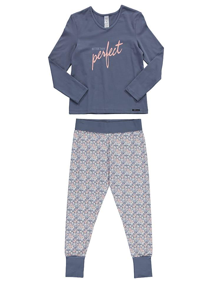 Skiny Pyjama in Rosa/ Graublau